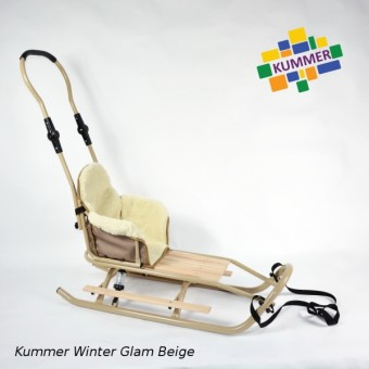 Saniuta pentru copii cu spatar Kummer Winter Glam Extra
