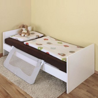 Barieră protectie pat copii rabatabila ByMySide XL, 150 cm