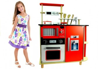 Bucatarie din lemn copii 3 Ani+ cu accesorii Sophia Red