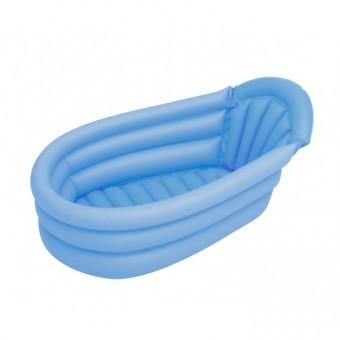 Cadita de baie gonflabila albastra +Set 3 Jucarii