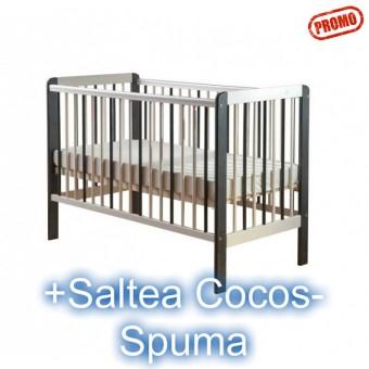 Patut Copii cu Laterala Demontabila Drewex Zebra+Saltea