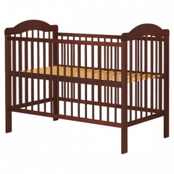 Patut pentru copii din lemn de pin 120x60cm Lizett wenge