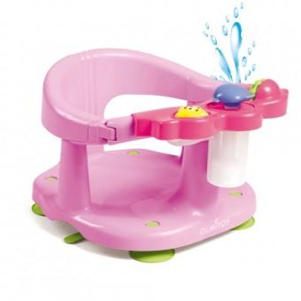 Scaun baie bebe cu stropitoare si jucarii Olmitos Roz