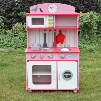 Set Bucatarie din lemn ,copii 3 Ani+ Kate Pink