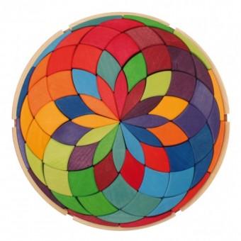 Set de joaca cu 72 de piese Mandala culorilor