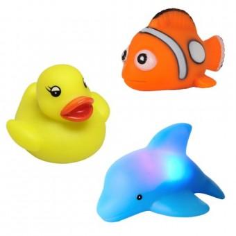 Set jucarii pentru baie luminoase cu senzor Floating Blinkies