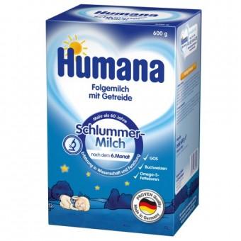 Imagine indisponibila pentru Set Lapte praf de la 6 luni de noapte cu cereale Humana 600 g