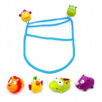 Set saculet cu 4 jucarii de baie pentru Bebe ESCABBO