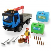Camion Joaca Dickie Toys Recycling Container Set cu figurina si accesorii