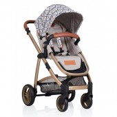 Carucior copii 2 in 1 Kiddo Jazz Gold Sand Triangle