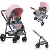 Carucior copii 2 in 1 Kiddo Jazz Rose
