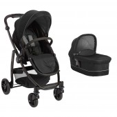 Carucior Copii Fun Time Evo II 2 in 1 - Black Grey