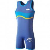 Costum inot copii din neopren Warma Wetsuit Aqua Blue