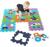 Covor Copii puzzle din spuma Vehicles 9 piese