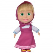 Papusa cu corp moale Masha and the Bear 23 cm Soft Doll