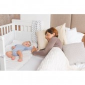 Patut co-sleeping din lemn 120x60 Dreamy Plus Alb