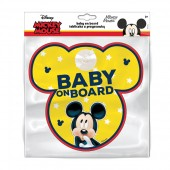 Semn de avertizare Baby on Board Mickey Seven
