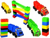 Set de constructie Copii Have Fun gigant Car Race